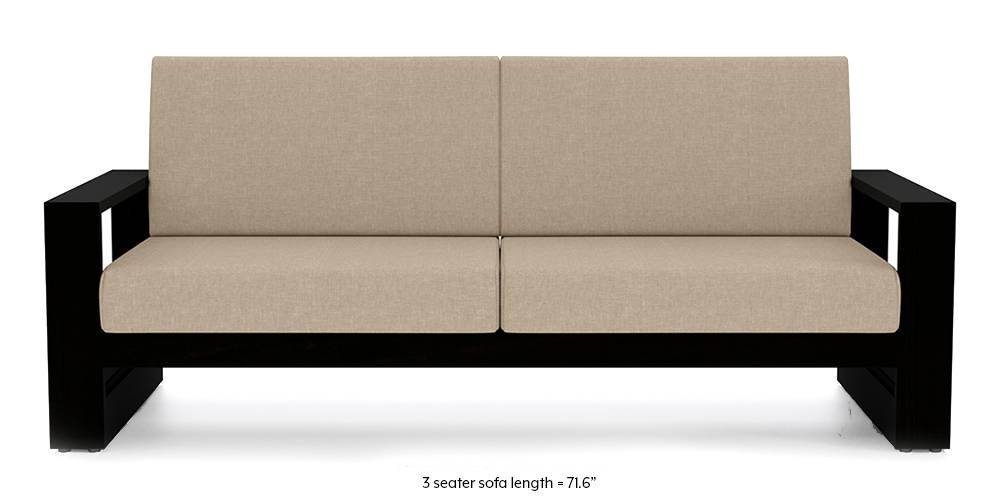 Parsons Wooden Sofa (Macadamia Brown) by Urban Ladder