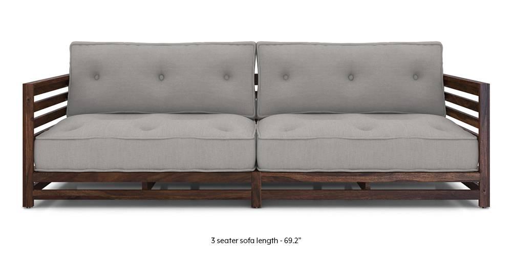 Raymond Low Wooden Sofa (Grey) by Urban Ladder