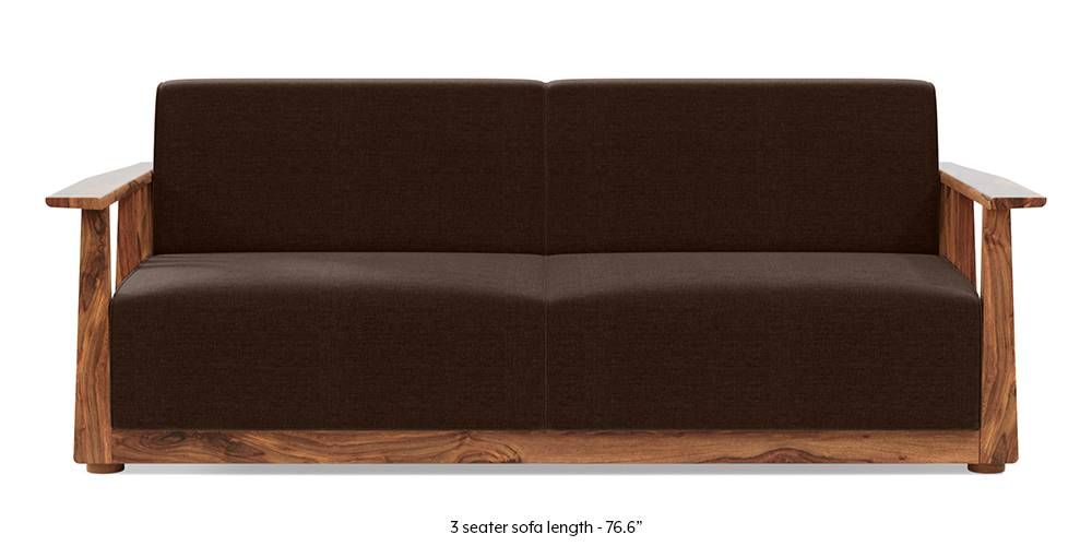Serra Wooden Sofa - Teak Finish (Dark Earth) by Urban Ladder