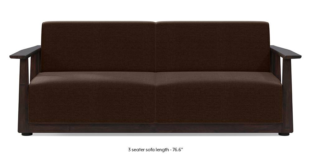 Serra Wooden Sofa - Mahogany Finish (Dark Earth) by Urban Ladder