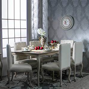 Lyon 6 Seater Dining Table Set  Natural Finish  Distressed Dining Table Set   Designs  Find Glass   Wooden Dining Tables  . Dining Table Online Purchase Chennai. Home Design Ideas