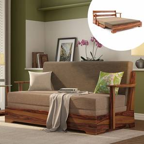 Mahim Sofa Cum Bed (Two Tone Brown, Without Storage Arm) by Urban Ladder