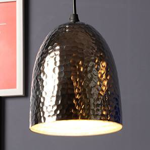 Voyager Pendant Light (Small Light Size, Single Arrangement, Nickel Shade Finish)