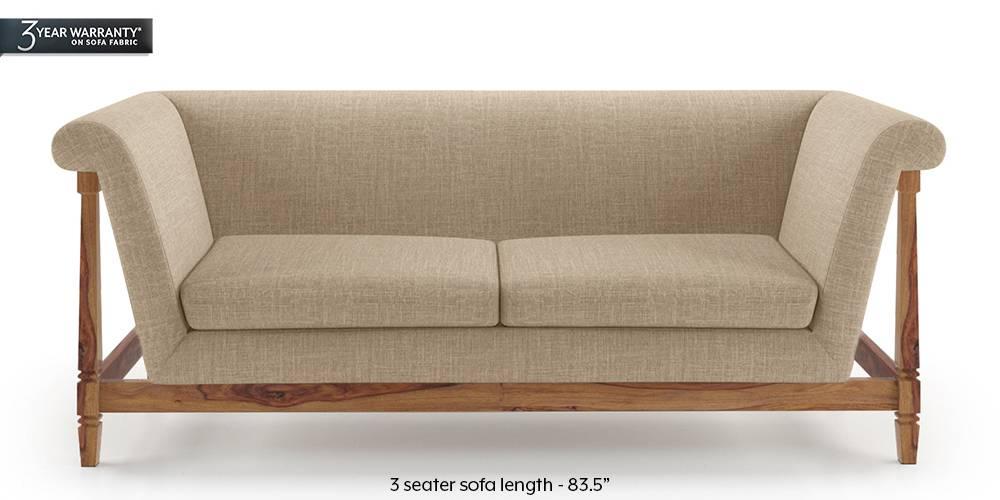 Malabar Wooden Sofa (Sandshell Beige) by Urban Ladder