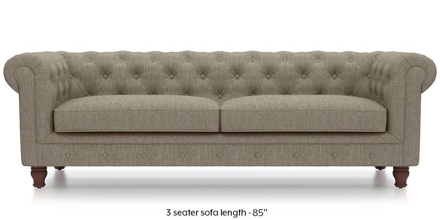 Winchester Fabric Sofa (Mist Brown) (Mist, Fabric Sofa Material, Regular Sofa Size, Regular Sofa Type) by Urban Ladder