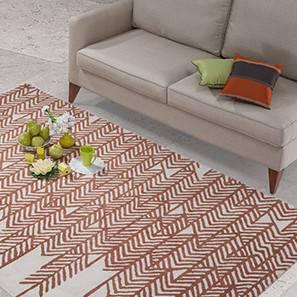 "Rosalin Hand Tufted Carpet (Rust, 36"" x 60"" Carpet Size)"