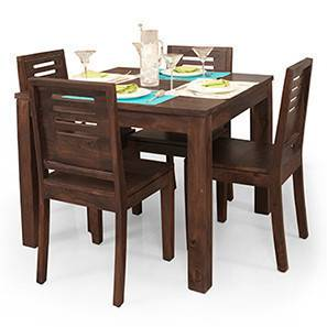 Arabia Square - Capra 4 Seater Dining Table Set (Mahogany Finish)