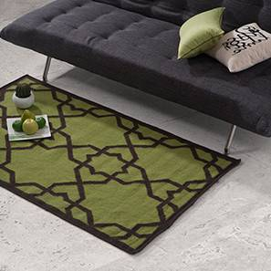 "Wisteria Woolen Dhurrie (Green, 36"" x 60"" Carpet Size)"