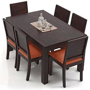 Arabia oribi 6 seater dining table set urban ladder for Dining room table 6 person