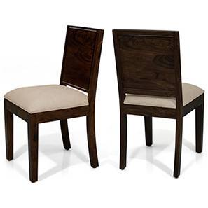 Oribi Dining Chairs - Set of 2 (Mahogany Finish, Wheat Brown)