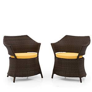 calabah patio armchairs set of 2 brown