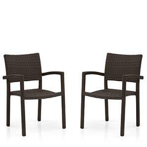 Danum Patio Armchairs (Set of 2) (Brown)