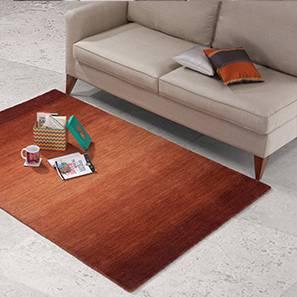 "Aurora Hand Loom Carpet (48"" x 72"" Carpet Size, Paprika Red)"