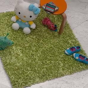 "Metoh Shaggy Rug (Green, 36"" x 36"" Carpet Size)"