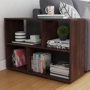 Tetris Side Shelf (Walnut Finish) by Urban Ladder