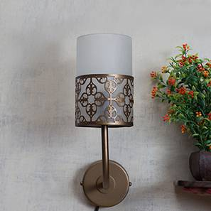 Mandala Wall Light Small (Antique Brass Base Finish, Brass Shade Colour)