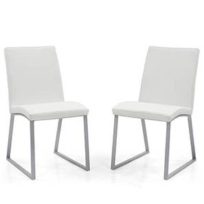 Delphine (Leatherette) Dining Chairs - Set of 2 (White)