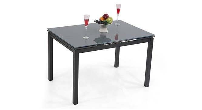 Lucerne 4 to 6 Extendable Glass Top Dining Table Urban  : LucerneExtendableDiningTableBlack01IMG0042 from www.urbanladder.com size 666 x 363 jpeg 18kB