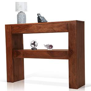 Epsilon Console Table (Teak Finish)