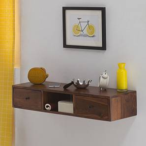 claudio console shelf teak finish