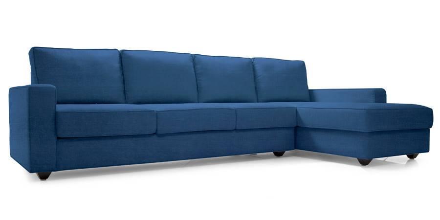 Apollo Sectional Sofa (Cobalt Blue) (Cobalt, Fabric Sofa Material, Regular Sofa Size, Sectional Sofa Type) by Urban Ladder