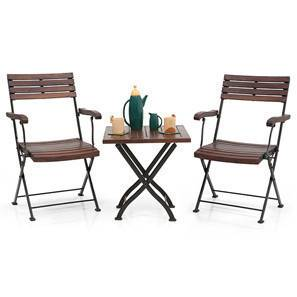 Masai Arm Chair Table Set (Teak Finish) (Black)  sc 1 st  Urban Ladder & Balcony Chairs: Buy Balcony Chairs \u0026 Garden Chairs Online in India ...