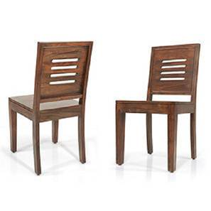 Capra Dining Chairs   Set Of Two (Teak Finish)