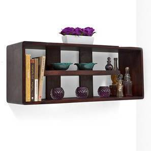 monza wall shelf mahogany finish - Wooden Wall Rack Designs