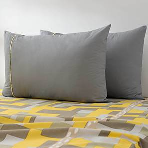 Plaksh Bed Cover (Yellow, Queen Size)