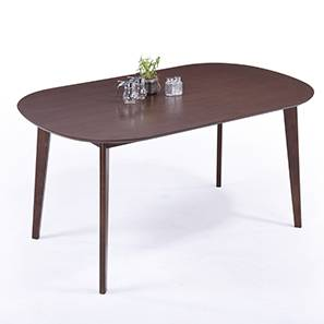 Noren 6 Seater Dining Table (Dark Walnut Finish)