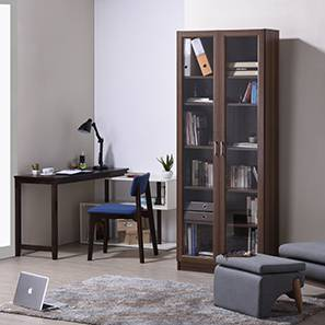 Sendai Wall Mounted Bookshelf (48-book capacity) (Walnut Finish)