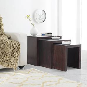 Square side tables living room