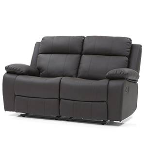 Robert Two Seater Recliner Sofa (Chocolate Brown Leatherette)