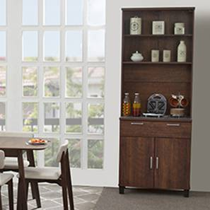 Portland 4-Door Kitchen Cabinet (Walnut Finish)