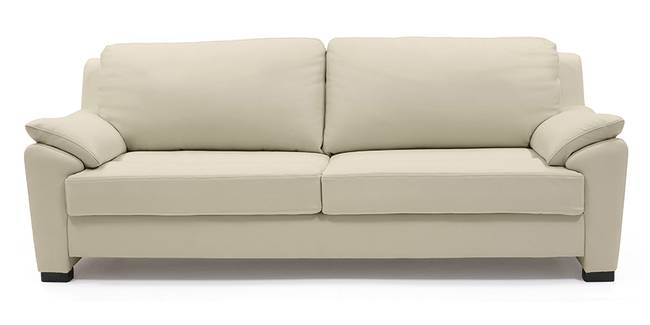 Farina Sofa (Cream Italian Leather) (Cream, Regular Sofa Size, Regular Sofa Type, Leather Sofa Material)