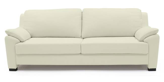 Farina Sofa (Milk Italian Leather) (Milk, Regular Sofa Size, Regular Sofa Type, Leather Sofa Material)