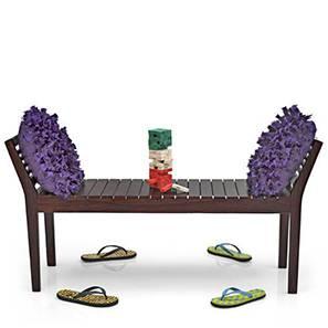 Latt Bench (Mahogany Finish, Without Upholstery Configuration)