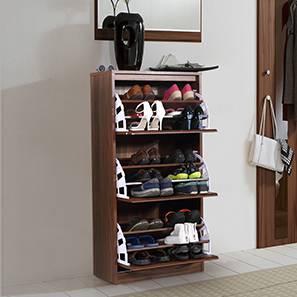 Pointe Shoe Cabinet (Walnut Finish, Simple Configuration, 21 Pair Capacity)