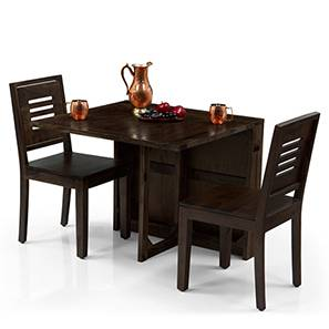 Danton 3 To 6   Capra 2 Seater Folding Dining Table Set (Mahogany