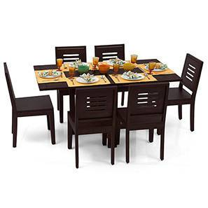 Danton folding dining table set capra chairs mahogany finish 00 img 0052 m