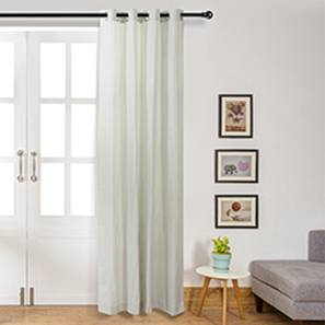 Oakley Check Curtain (Door Curtain Type, Turquoise Green)