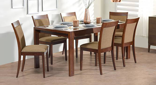 Vanalen 6 To 8 Extendable Dalla 6 Seater Glass Top Dining Table Set Urban