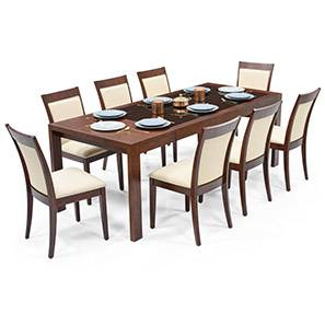 Buy 8 seater wooden dining sets online in india urban ladder - Dining table sets online india ...