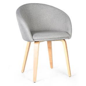 Meryl Lounge Chair (Light Grey)
