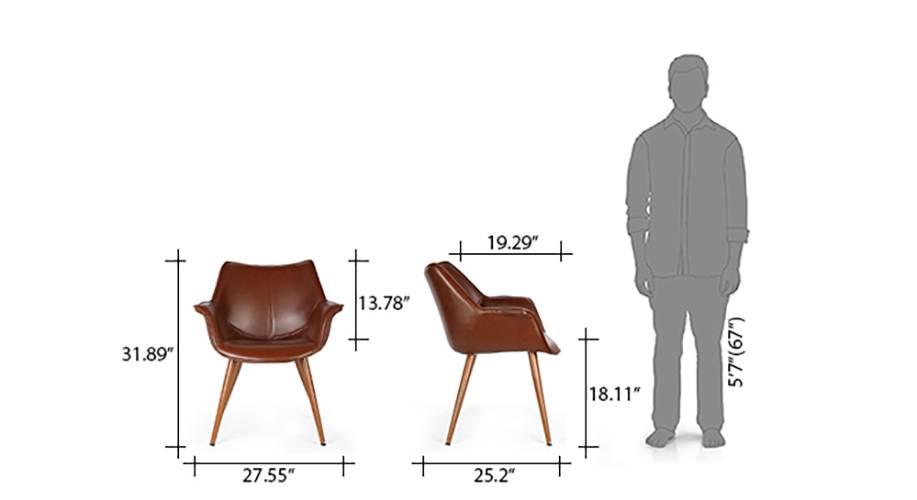 Keaton lounge chair brown 09 10