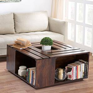 Penland Coffee Table (Walnut Finish, Without Cushion Configuration)