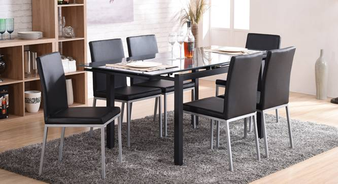 Lucerne 4 To 6 Extendable Glass Top Lupo 6 Seater Dining .