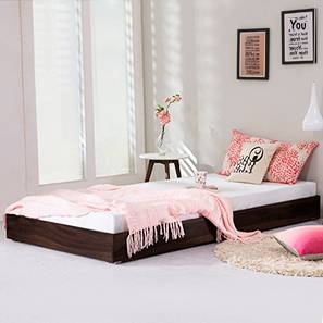Merritt Trundle Bed (Mahogany Finish, Single Bed Size)