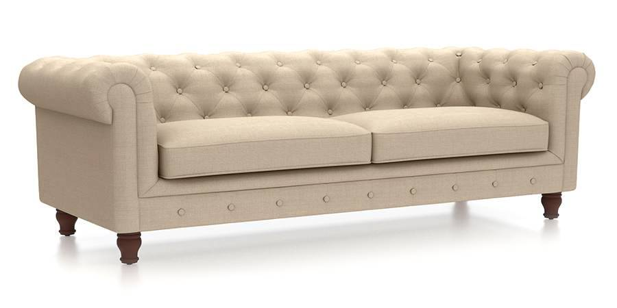 Winchester Fabric Sofa (Pearl White) (Pearl, Fabric Sofa Material, Regular Sofa Size, Regular Sofa Type) by Urban Ladder