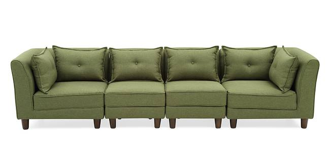 Mara Modular Sofa (Green) (Green, Fabric Sofa Material, Regular Sofa Size, Modular Sofa Type)